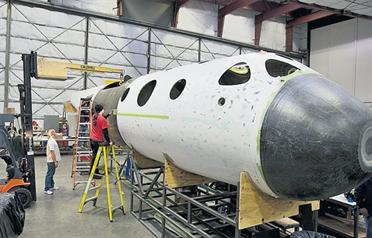 Virgin Galactic's SpaceShipTwo can carry six passengers and two pilots. (AP)