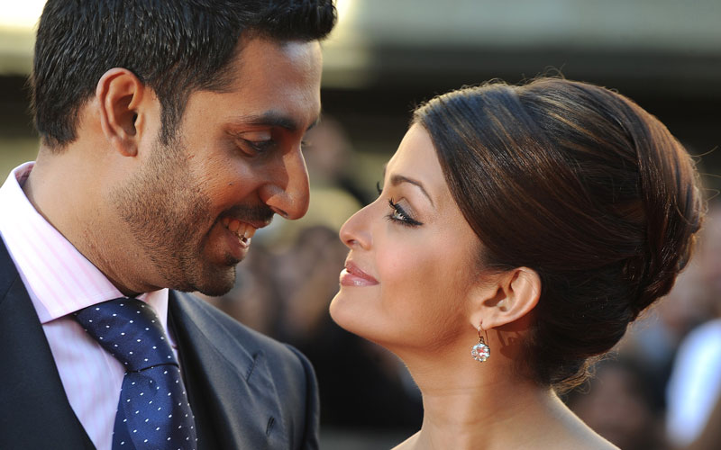 Indian actress Aishwarya Rai Bachchan (R) and husband Abhishek Bachchan are soon to be proud parents. The couple got married in April 2007 and are expecting their first child. The news comes after weeks of media speculation in Indian gossip columns about the actress' fluctuating weight. (AFP)