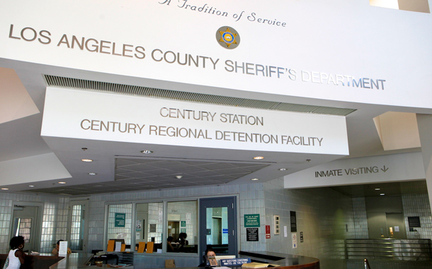 The interior lobby of the Century Regional Detention Facility Century Sheriff Station, where actress Lindsay Lohan will serve a 90-day sentence for violating her probation is seen in Lynwood, Calif. A judge sentenced Lohan on July 6, to 90 days in this facility. (AP)
