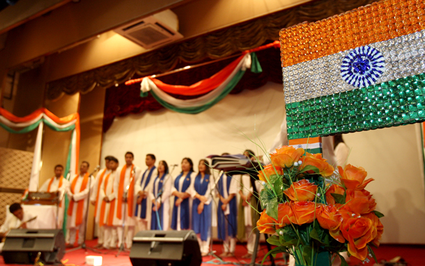 Celebration of the Independence Day of India in Dubai. (Xavier Wilson)
