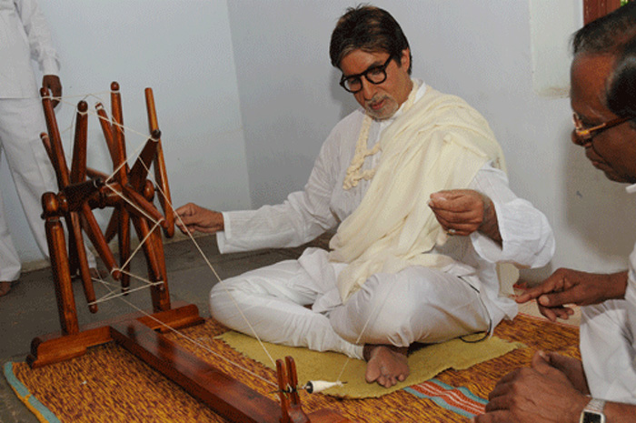Barefoot inspiration: Bachchan does a Gandhi - Emirates24|7