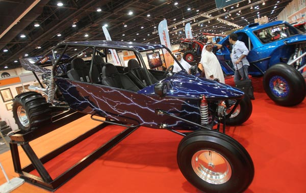 Vehicules are displayed on the first day of the Abu Dhabi International Hunting and Equestrian exhibtion (ADIHEX). (AFP)