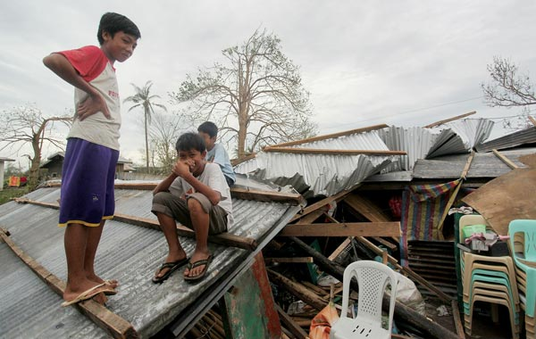 It has been reported that Megi has killed more that 10 people after the storm dumped heavy rains and had wind gusts of up to 160 mph across the main island of the Philippines. (GETTY)
