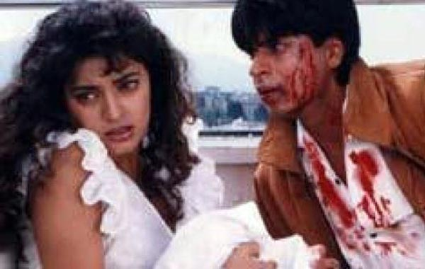 In 'Darr', Khan played an obsessed lover going to great lengths to get his girl (Juhi Chawla), who is already happily married. The 1993 production sparked a friendship that saw the pair produce films and buy a cricket team together (FILE)