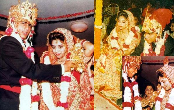 In 1991, before any of his films were released, Khan married Gauri Chibber, a Hindu, in a traditional Hindu wedding ceremony. They have two children, son Aryan, 13, and daughter Suhana, 10. According to Khan, while he strongly believes in Allah, he also values his wife's religion (FILE)