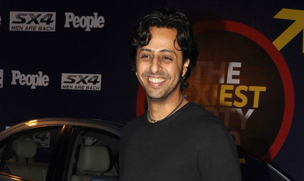 Indian Bollywood music director Salim Merchant arrives to attend a People Magazine theme party in Mumbai. (AFP)