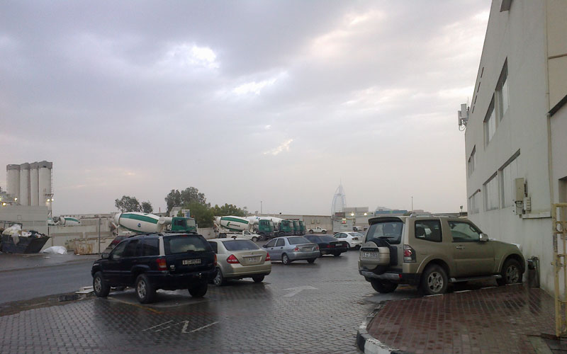 Rains brought relief from dusty conditions of past few days in Dubai (Supplied)