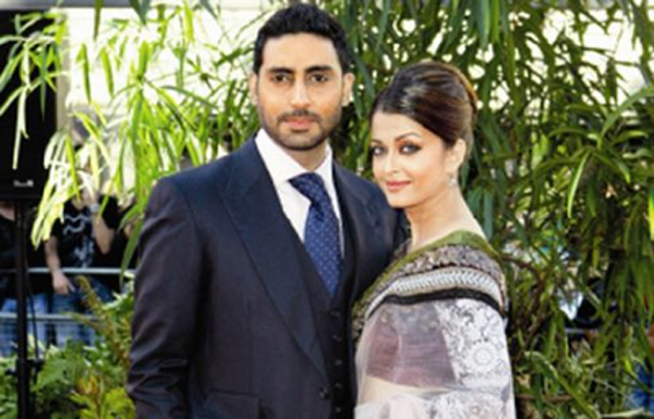 Abhishek Bachchan & Aishwarya Rai Description: Stunning looking former Miss World Aishwarya Rai seemed to have made a wrong choice. (Nikki Steggall)