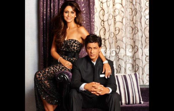 "SRK posted a photo of his with wife Gauri from the ad the two shot together. SRK wrote: ""got a pic from the d decor shoot...the furnishing is awesome...the wife looks fine too."" (AGENCY)"