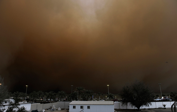 A picture of the sandstorm in Kuwait. (SUPPLIED)