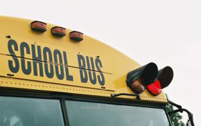 The alleged incident took place on a school bus (File)