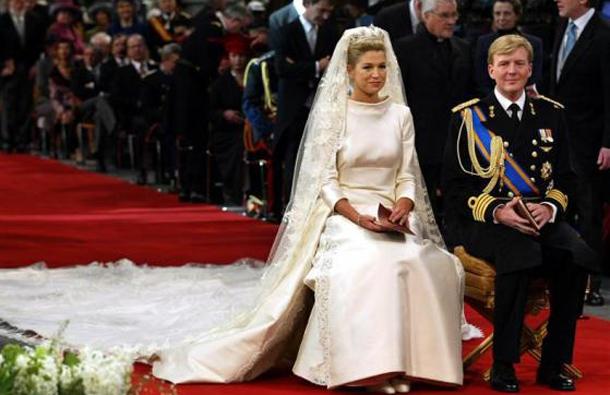 Royal Wedding Wear Crossword : Crown prince willem alexander sit side by during their wedding