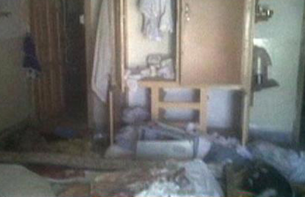 A frame grab obtained from ABC News shows the interior in the mansion where Osama Bin Laden was killed. (REUTERS)