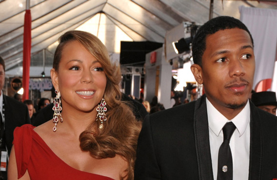 Mariah Carey and Nick Cannon (BANG)