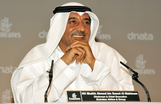 Sheikh Ahmed bin Saeed Al Maktoum, Chairman and Chief Executive, Emirates Airline and Group (SUPPLIED)