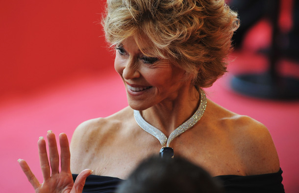 "Actress Jane Fonda attends the ""Pirates of the Caribbean: On Stranger Tides"" premiere at the Palais des Festivals during the 64th Cannes Film Festival on May 14, 2011 in Cannes, France. (GETTY/GALLO)"
