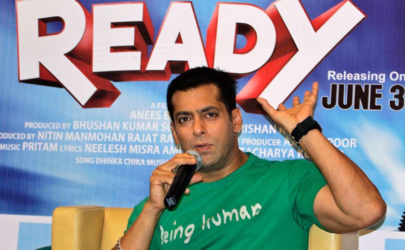 (FILE) Bollywood actor Salman Khan gestures during a press conference in Ahmadabad, India. (AP)