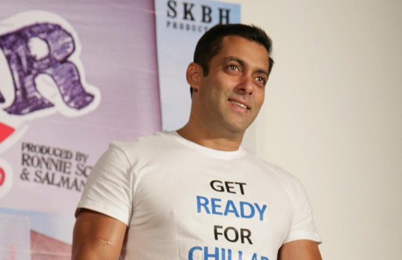 "Indian Bollywood actor Salman Khan poses during a promotional event for the Hindi film ""Chillar Party"" in Mumbai. (AFP)"