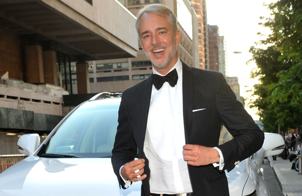 Michael Bastian, menswear designer of the year winner, arrives in a Lexus at the 2011 CFDA Fashion Awards in New York. (AP)