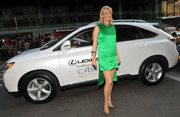 Nadja Swarovski arrives in a Lexus at the 2011 CFDA Fashion Awards1 in New York. (AP)