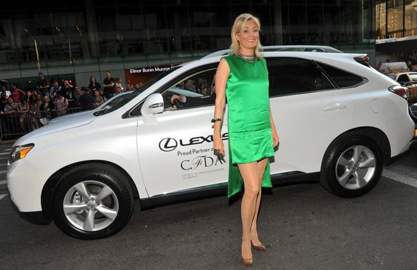 Nadja Swarovski arrives in a Lexus at the 2011 CFDA Fashion Awards1 in New York. (AP)