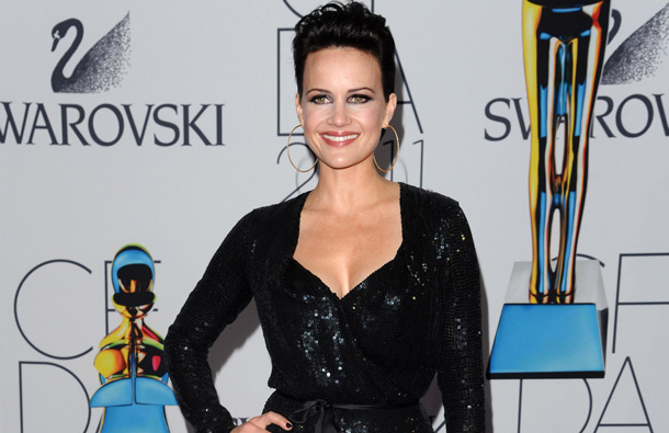 Actress Carla Gugino attends the 2011 CFDA Fashion Awards at Alice Tully Hall in New York. (AP)