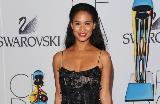 Actress Joy Bryant attends the 2011 CFDA Fashion Awards at Alice Tully Hall in New York. (AP)