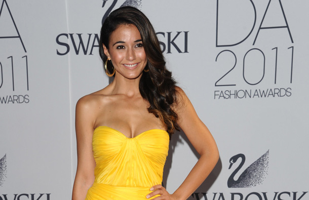Actress Emmanuelle Chriqui attends the 2011 CFDA Fashion Awards at Alice Tully Hall in New York. (AP)