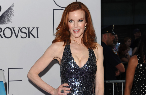 Actress Marcia Cross attends the 2011 CFDA Fashion Awards at Alice Tully Hall in New York. (AP)