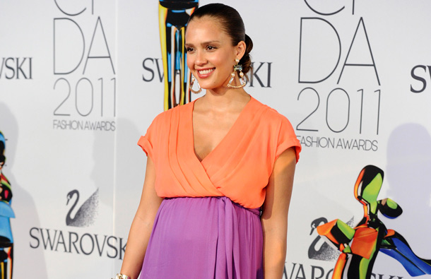 Actress Jessica Alba attends the 2011 CFDA Fashion Awards at Alice Tully Hall in New York. (AP)