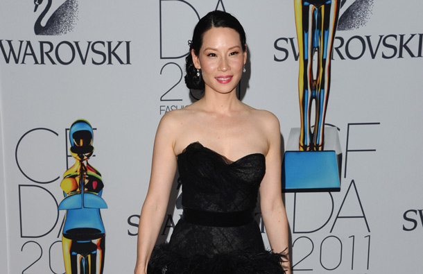 Actress Lucy Liu attends the 2011 CFDA Fashion Awards at Alice Tully Hall in New York. (AP)