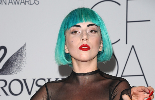 Singer Lady Gaga attends the 2011 CFDA Fashion Awards at Alice Tully Hall in New York. (AP)