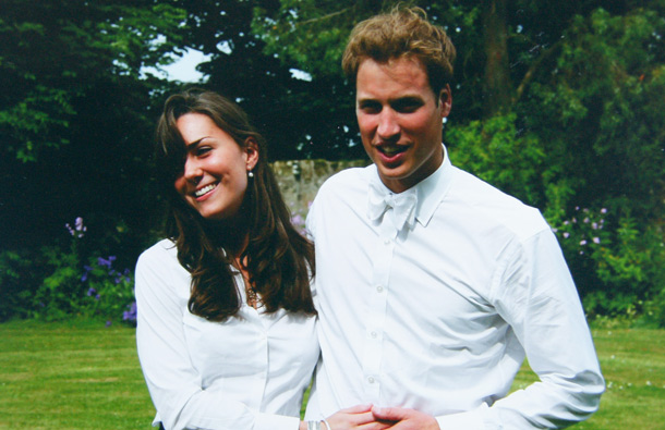 Kate Middleton and Prince William on the day of their graduation ceremony at St Andrew's University in St Andrew's on June 23, 2005 in Scotland. (GETTY/GALLO)