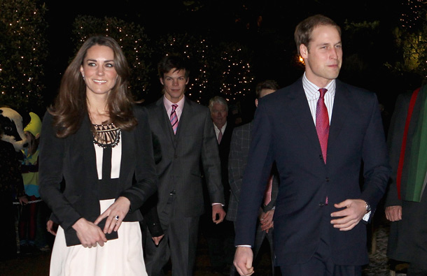 Prince William and finacee Catherine Middleton arrive for a Christmas reception in aid of the Teenager Cancer Trust at theThursford Collection on December 18, 2010 in Fakenham, England. (GETTY/GALLO)