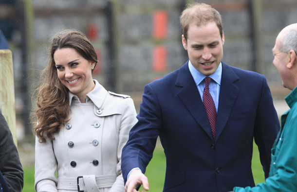 Kate Middleton and Prince William visit Greenmount Agricultural College on March 8, 2011 in Belfast, Northern Ireland. (GETTY/GALLO)
