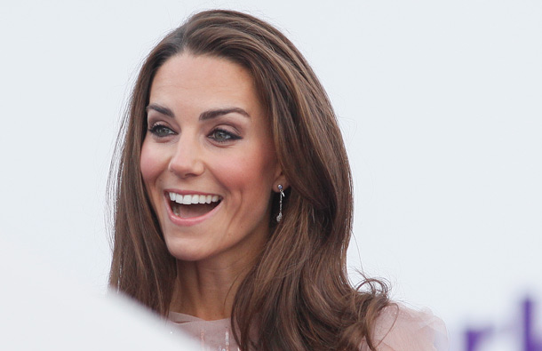 Britain's Duchess of Cambridge arrives at a charity event for Absolute Return for Kids, ARK, in central London, Thursday, June, 9, 2011. (AP)