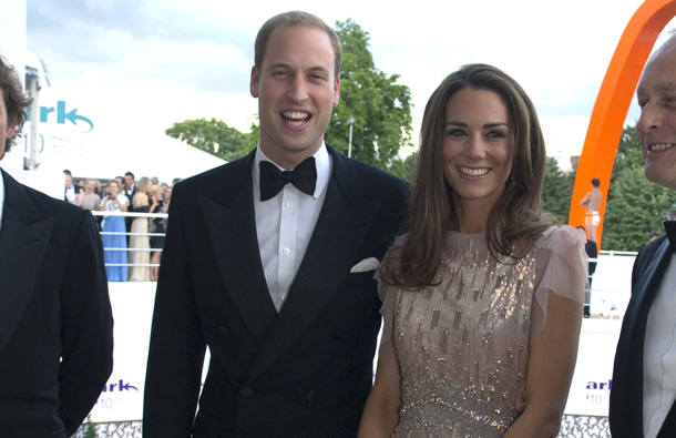 Catherine, Duchess of Cambridge and Prince William, Duke of Cambridge arrive at the ARK 10th Anniversary Gala Dinner at Perk's Field on June 9, 2011 in London, England. (GETTY/GALLO)