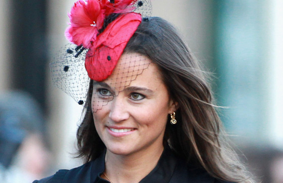 Pippa Middleton attends the wedding of Katie Percy to Patrick Valentine at St Michael's Church in Alnwick, Northumberland on February 26, 2011 in Alnwick, England.(GETTY/GALLO)