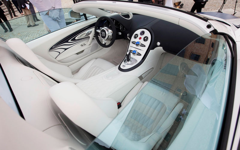 Bugatti L'Or Blanc – the world's most expensive car in the world – costing an estimated $2.4 million [Dh9m] (AFP)