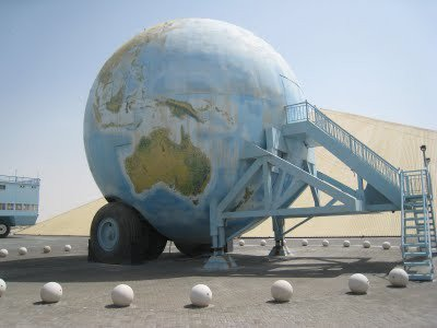 Custom-built globe-shaped motor home said to be one-millionth the size of the Earth (Facebook)