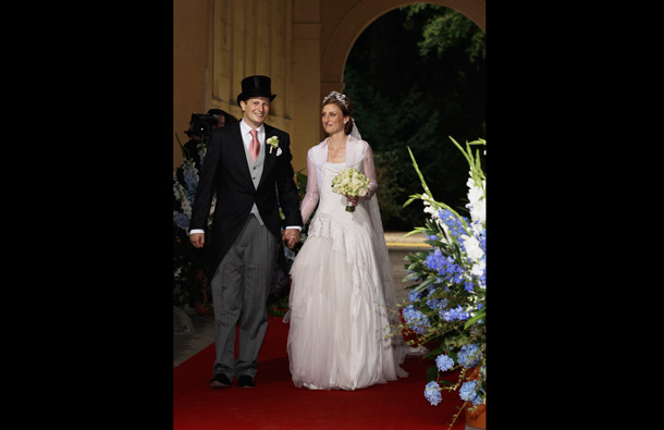Georg Friedrich Ferdinand Prince of Prussia and Princess Sophie of Prussia leave their religious wedding ceremony in the Friedenskirche Potsdam on August 27, 2011 in Potsdam, Germany. (GETTY/GALLO)