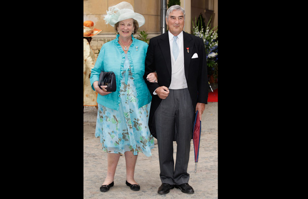 Alois Konstantin FÃtrst zu Loewenstein-Wertheim-Rosenberg and  Anastasia von Preussen attend the religious wedding ceremony of Georg Friedrich Ferdinand Prince of Prussia to Princess Sophie of Prussia in the Friedenskirche Potsdam on August 27, 2011 in Potsdam, Germany. (GETTY/GALLO)