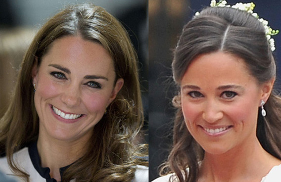 Catherine, the Duchess of Cambridge and Pippa (AGENCIES)
