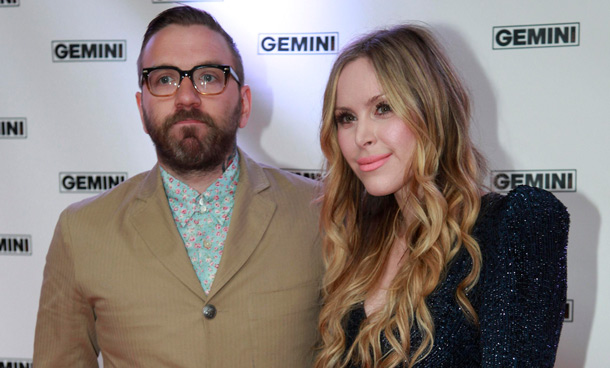 Performer Dallas Green and presenter Leah Miller (R) pose on the red carpet at the 26th Gemini Awards in Toronto September 7, 2011. (REUTERS)