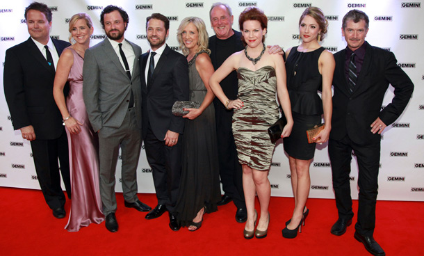 The cast of 'Call Me Fitz' pose on the red carpet at the 26th Gemini Awards in Toronto September 7, 2011. (REUTERS)