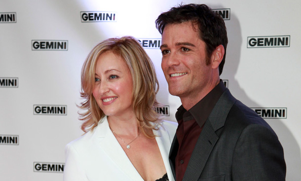 Actors and married couple Chantal Craig and Yannick Bisson (R) pose on the red carpet at the 26th Gemini Awards in Toronto September 7, 2011. (REUTERS)
