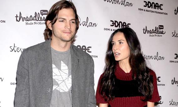 Ashton Kutcher and Demi Moore (BANG)