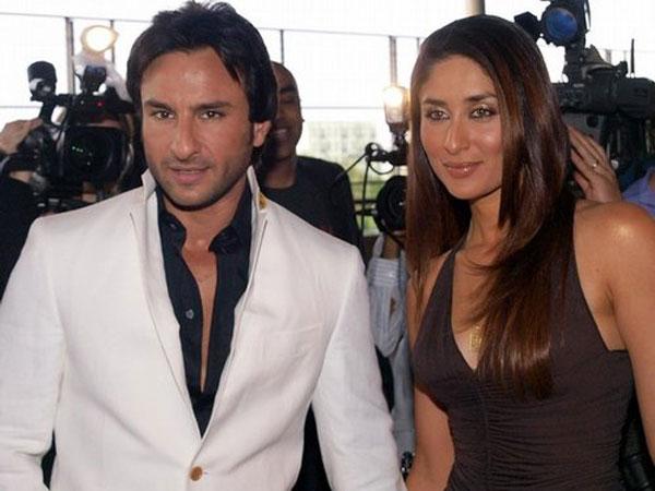Indian actor Saif Ali Khan and Kareena Kapoor. (GETTY)