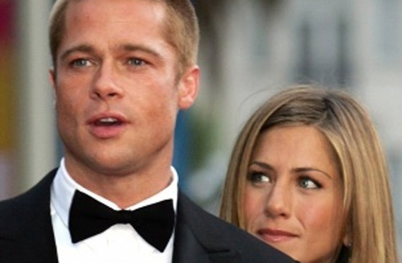 Brad Pitt and Jennifer Aniston (REUTERS)