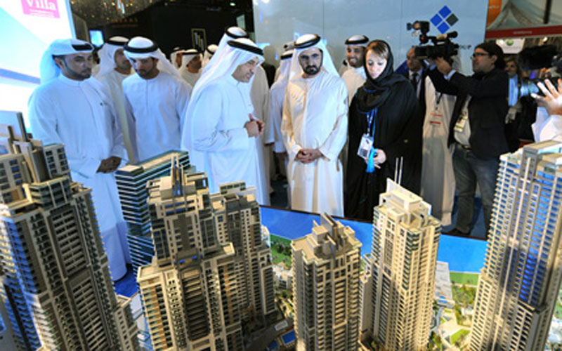 Mohammed inspects one the property project (SUPPLIED)